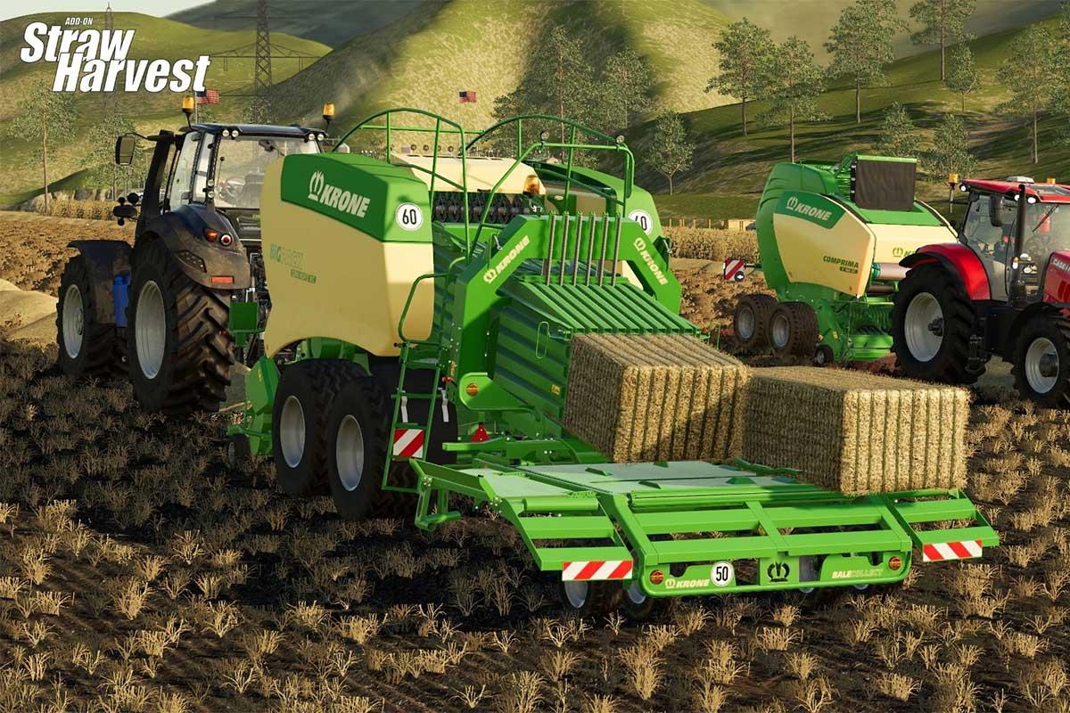 Farming Simulator 19 omanikele nüüd üks uus äge tasuta lisa - Straw Harvest mod, alusta oma pelletiäri
