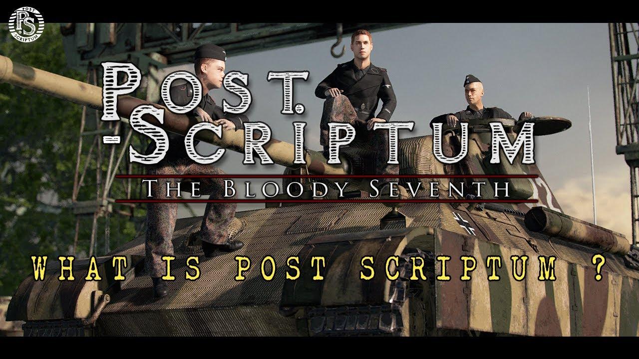 Post Scriptum tutvustus