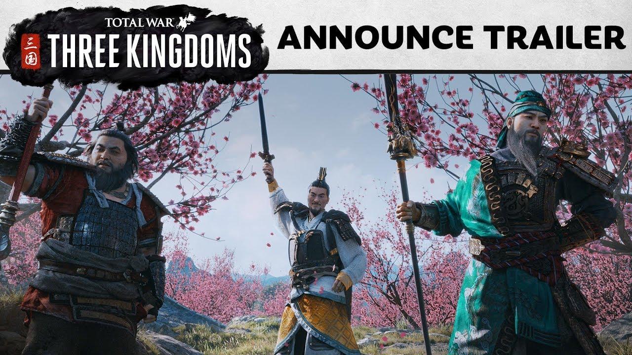 Total War: Three Kingdoms väljakuulutamine