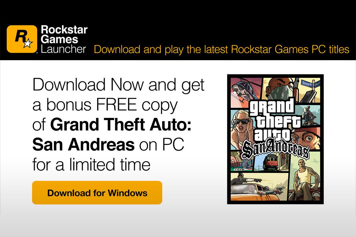 Rockstar Games jagab koos oma uue mängukäivitajaga tasuta Grand Theft Auto San Andreas-st