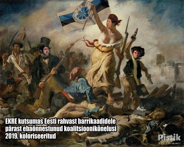 EKRE kutsumas rahvas barrikaadidele