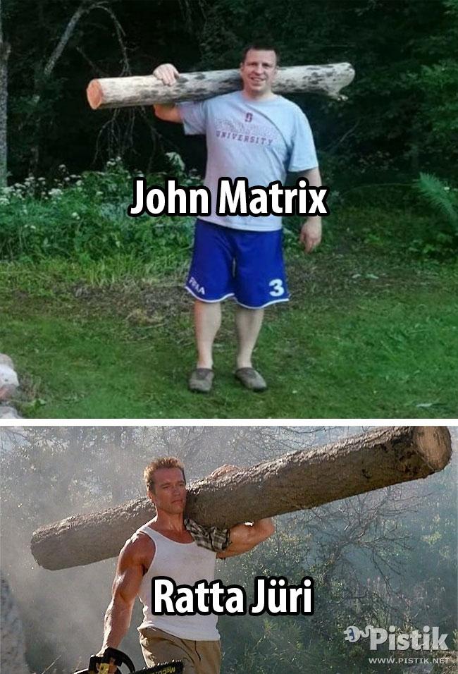 Nagu kaks tilka vett - John Matrix vs Ratta Jüri