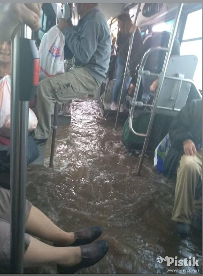 Siis kui isegi bussis ei saa kuiva jalaga sõita