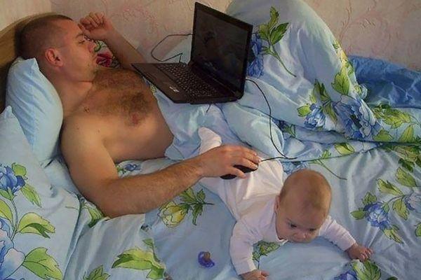 Kuidas isad lapsi hoiavad? (10 pilti)