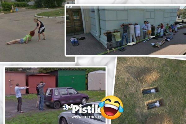 Naljakad ja kummalised Google Street View pildid (24 pilti)