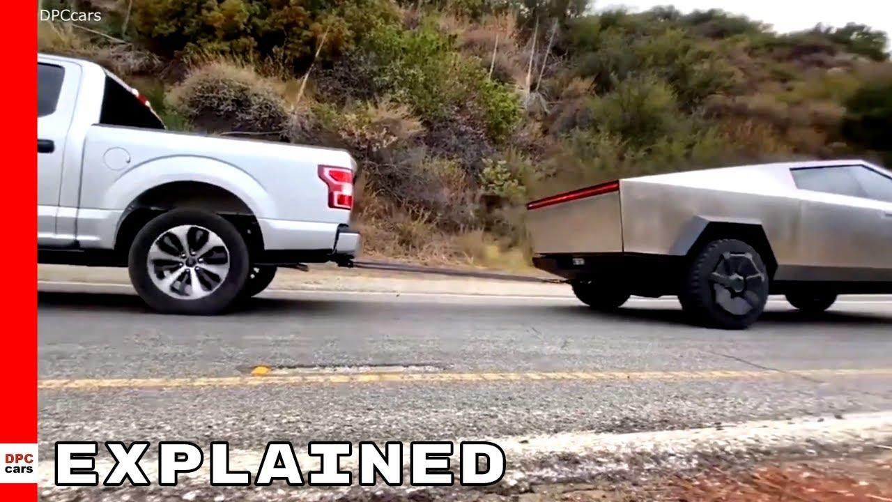 Tesla Cybertruck vs Ford F 150 jõutõmbamine