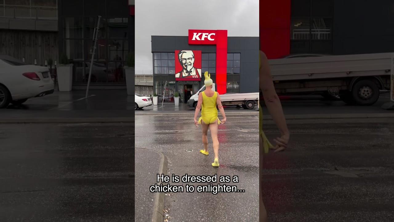 Vaata mis juhtub kui kui kana läheb KFC-sse