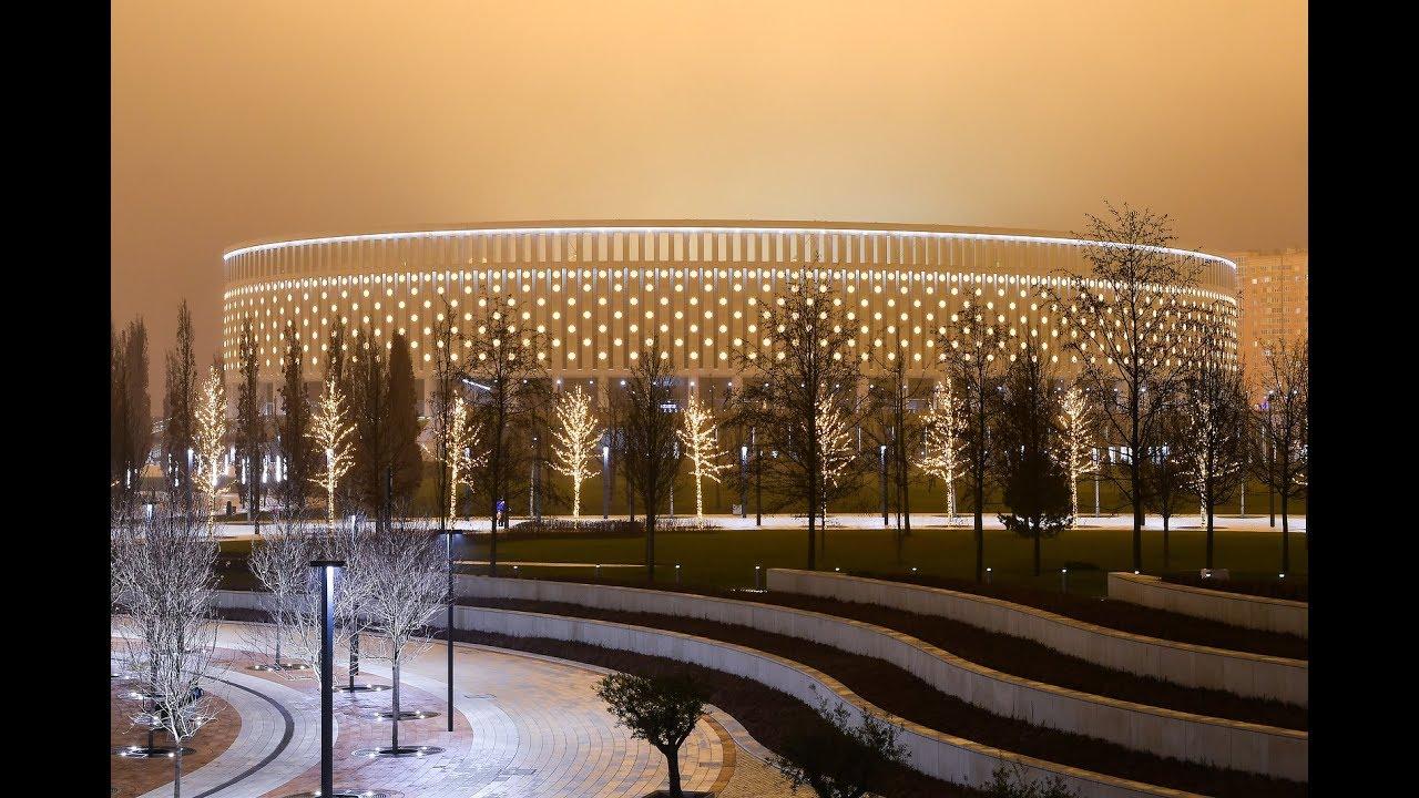 Krasnodari uus spordipark jõulutuledes
