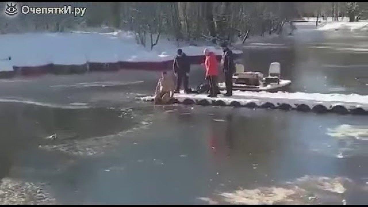 Vaata kuidas mees päästis jääkulmast veest väikese koera