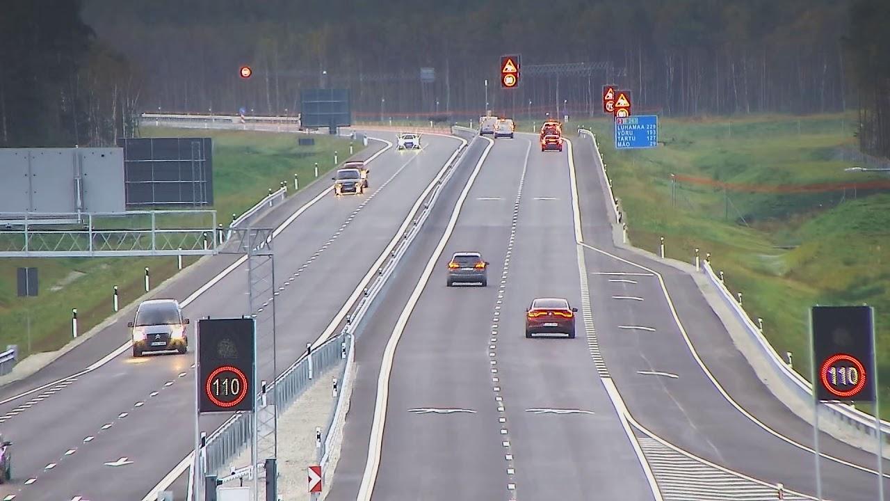 Vaata kuidas põder uuel Tallinn-Tartu maanteel ületab teed