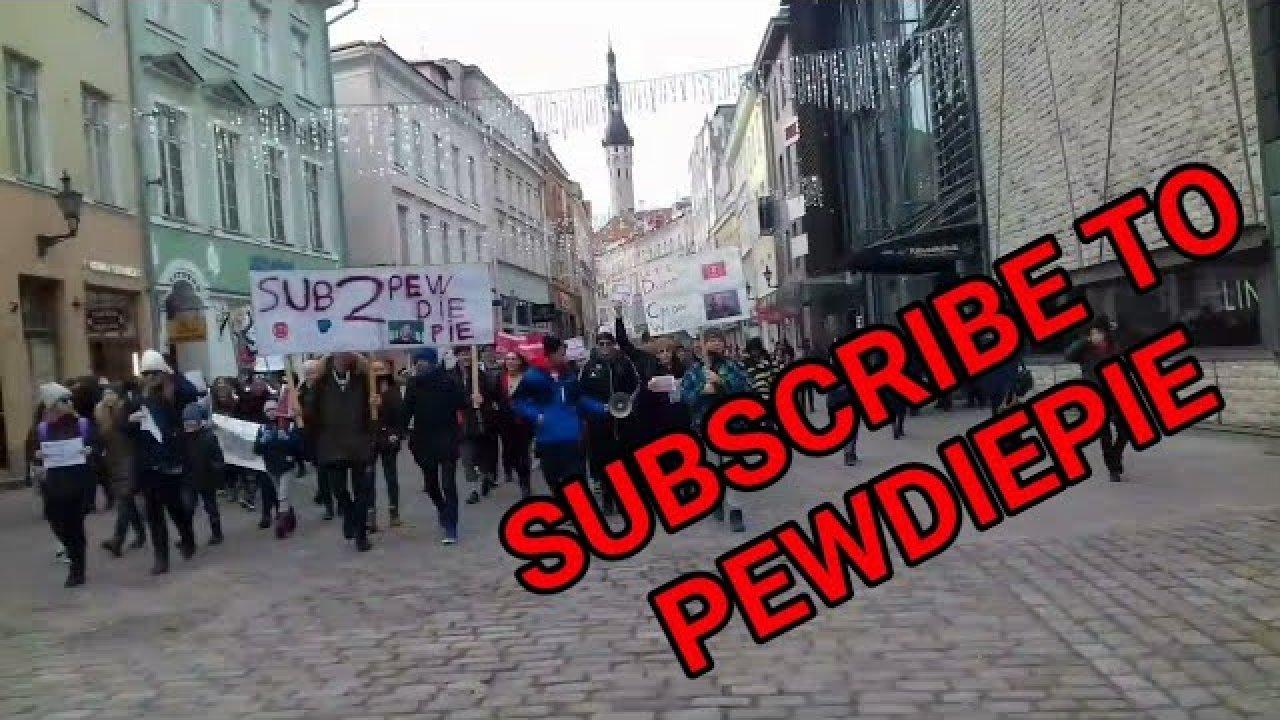 PewDiePie toetusparaad Tallinnas