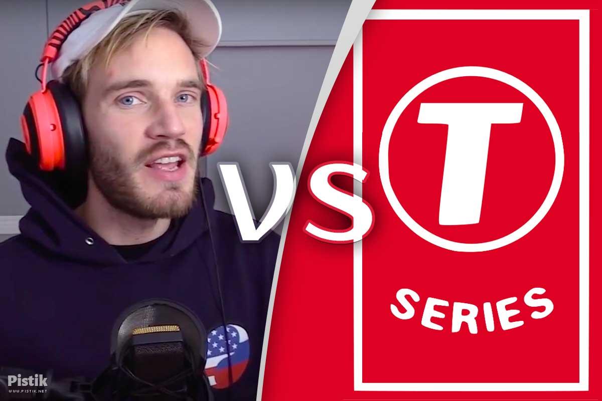 YouTube suur titaanide võitlus käimas - PewDiePiele vs T-Series