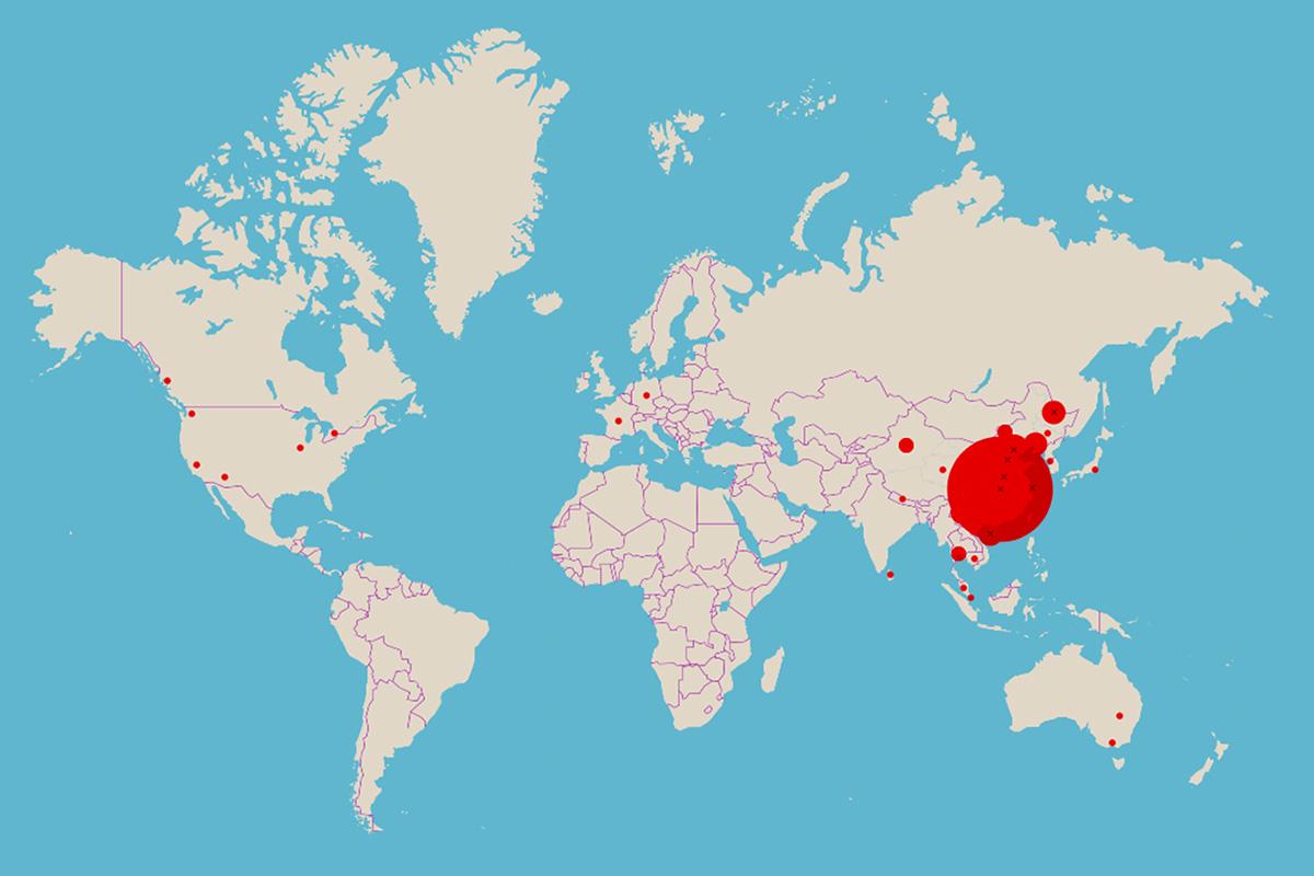 Jälgi reaalajas kaardilt koroonaviiruse levikut (lisatud kaart)