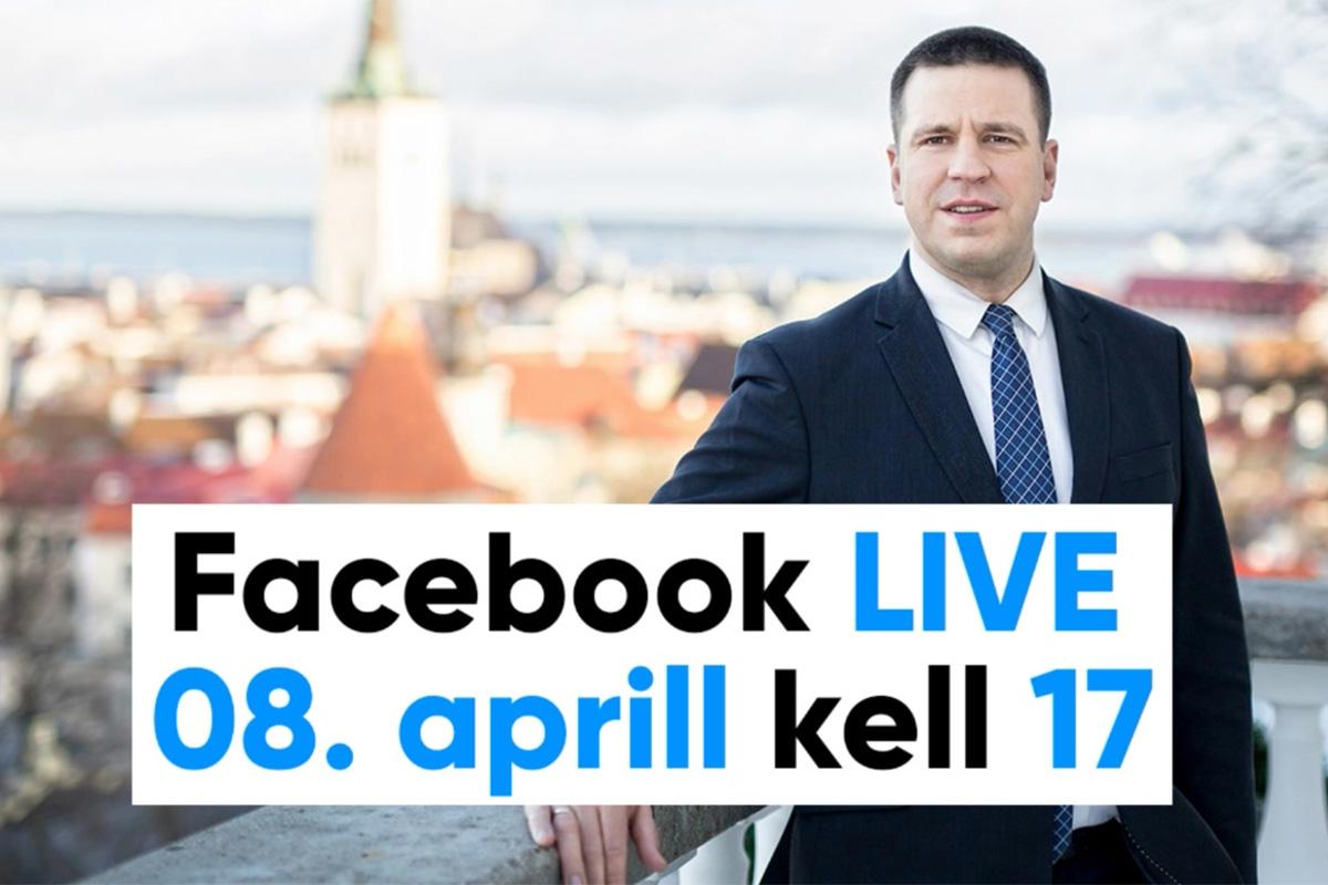 Jüri Ratase live esinemine Facebookis, 8. aprillil 2020
