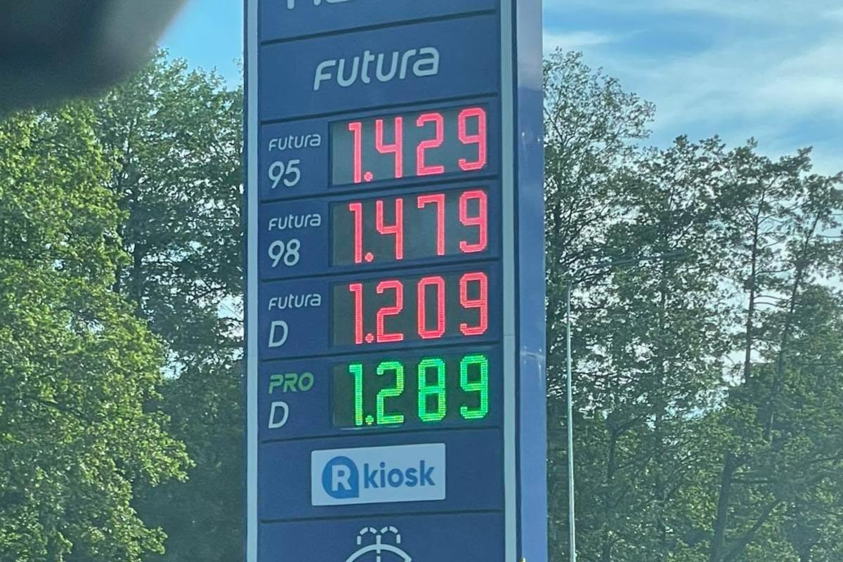Kütuse hinnad jätkavad tõusmist