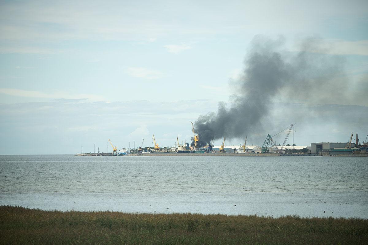 Põleng Põhja-Tallinnas Balti Laevaremonditehase territooriumil