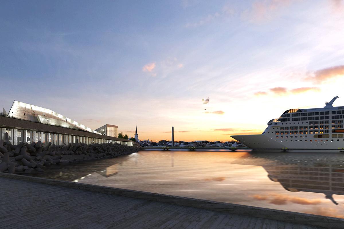 Tallinna Sadama uue kruiisiterminali ehitab YIT