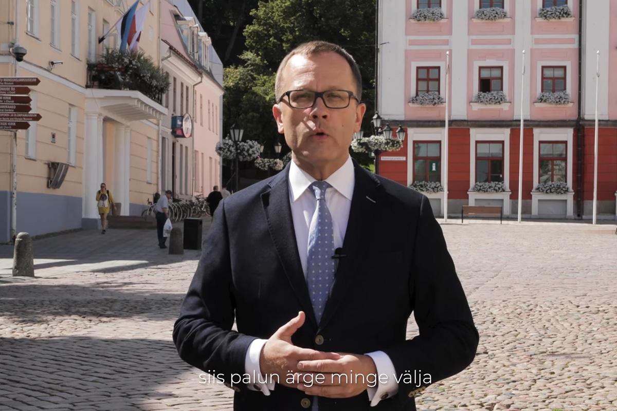 Tartu linnapea Urmas Klaasi pöördumine seoses koroonaviiruse puhanguga