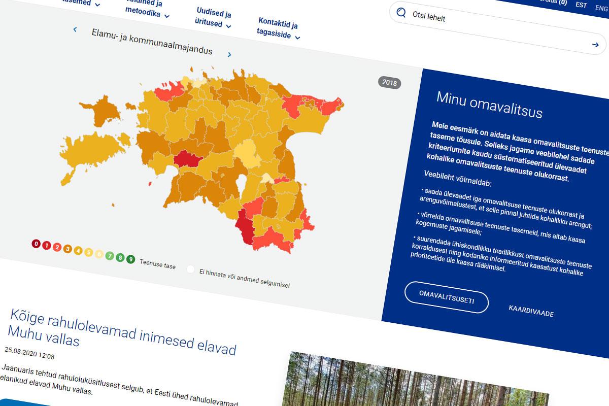Uus veebileht pakub võrdlevat ülevaadet Eesti omavalitsuste toimimisest
