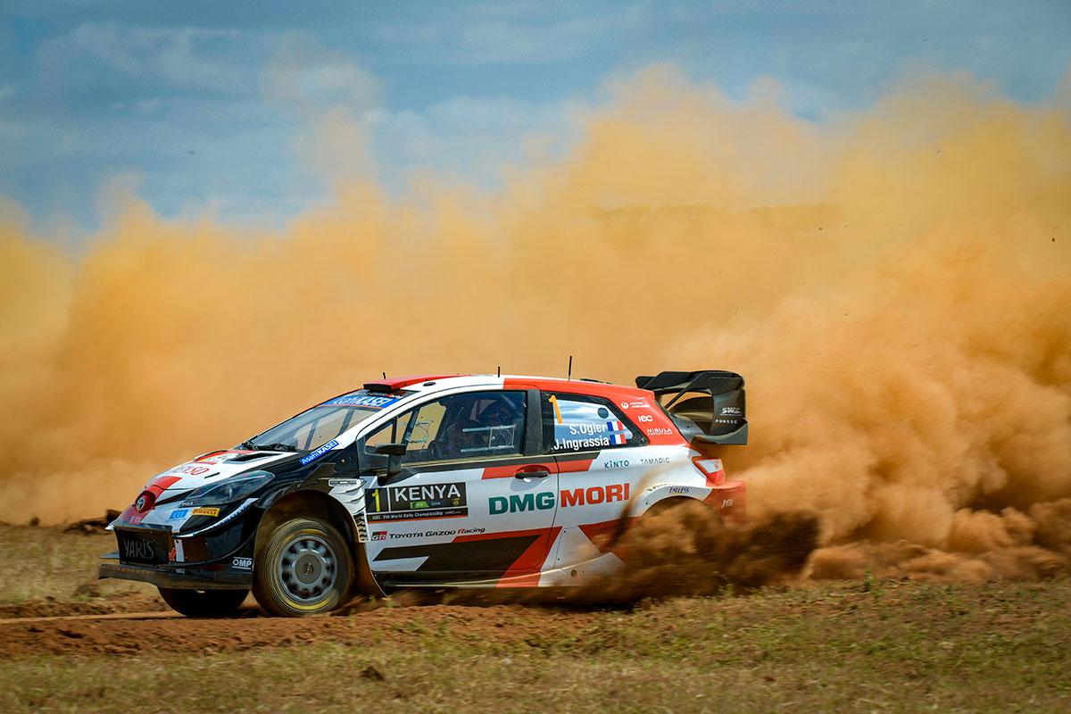 Keenias esimesel katsel kiiremaid Ogier, Rovanperä ja Evans, Tänak esimese mitte Toyotana neljas