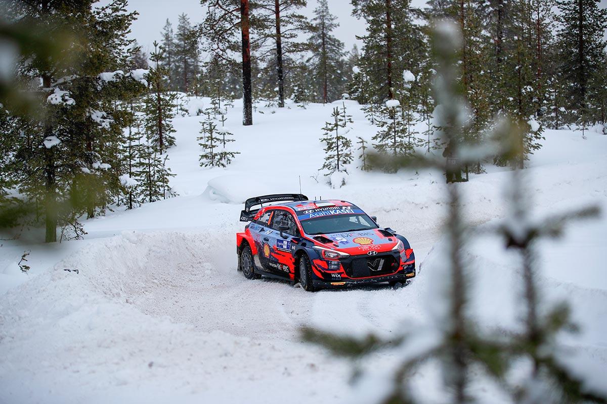 Tänak võitis ka teise Soome Arctic Rally kiiruskatse ja on ralli kindel liider esimese päeva järel