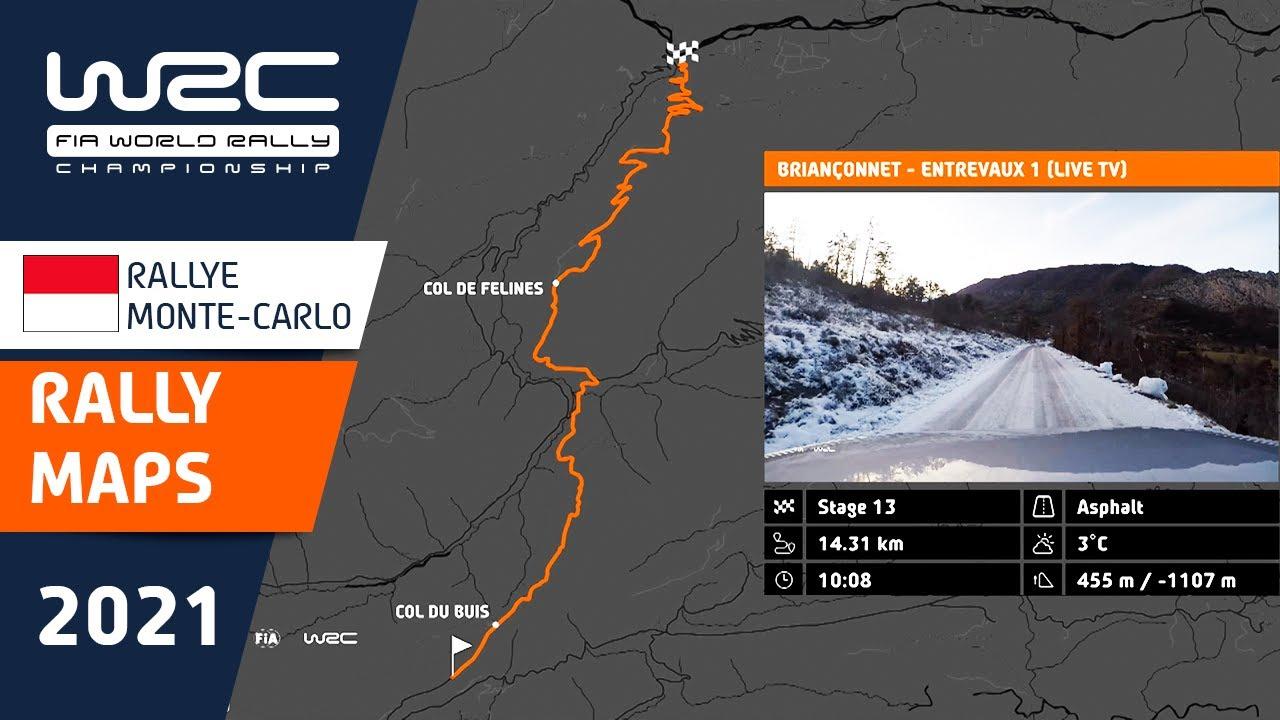 Monte Carlo Ralli 2021 kiiruskatsete ülevaade, WRC
