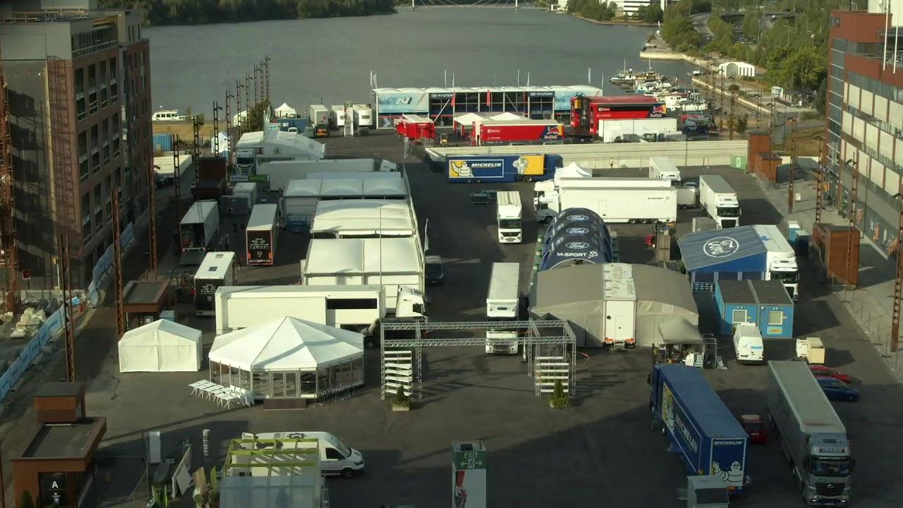 Soome ralli võistluskeskuse ülespanek 5 minutiga