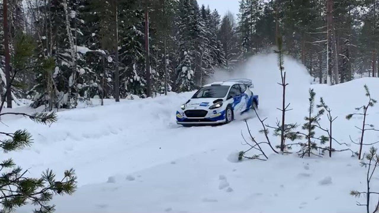 Janne Tuohino Artic Ralli eelne test