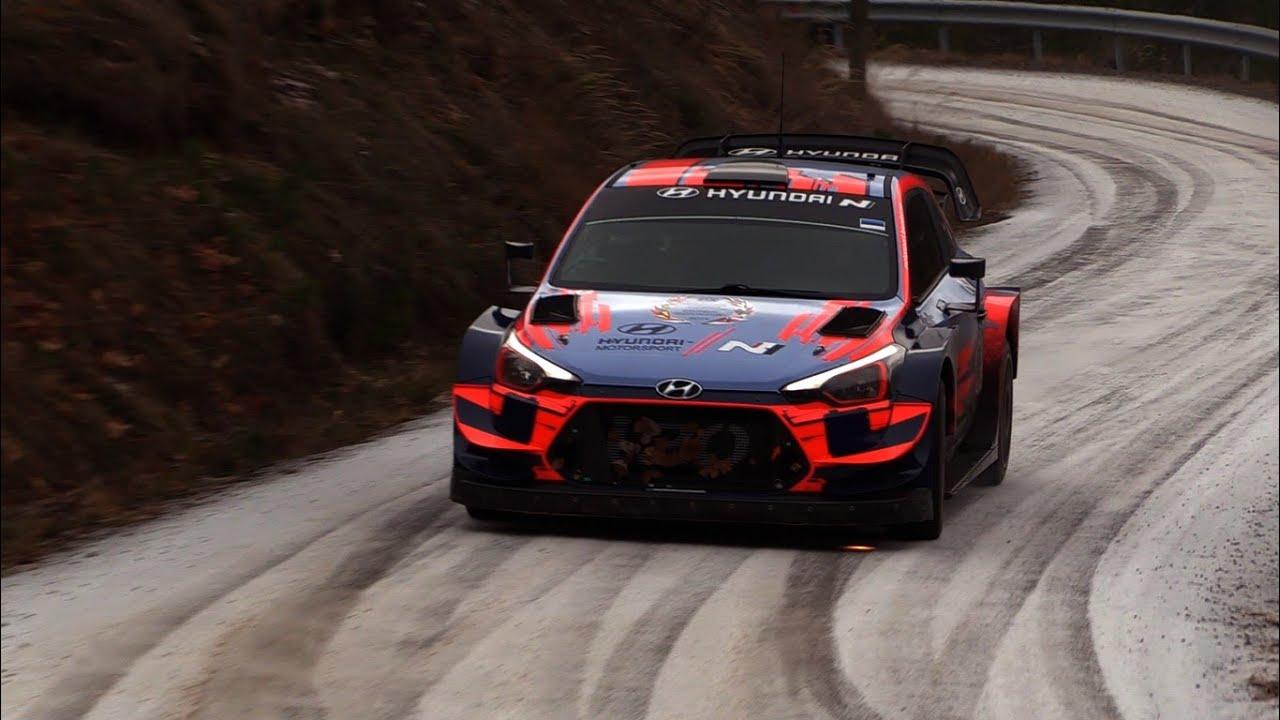 Monte Carlo ralli 2020 - rallieelne test, Tänak ja Hyundai - TzRallye Videos