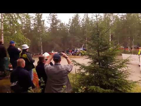 Soome ralli 2017 - testikatse shakedown, Gorbani kokkupõrge põhupalliga