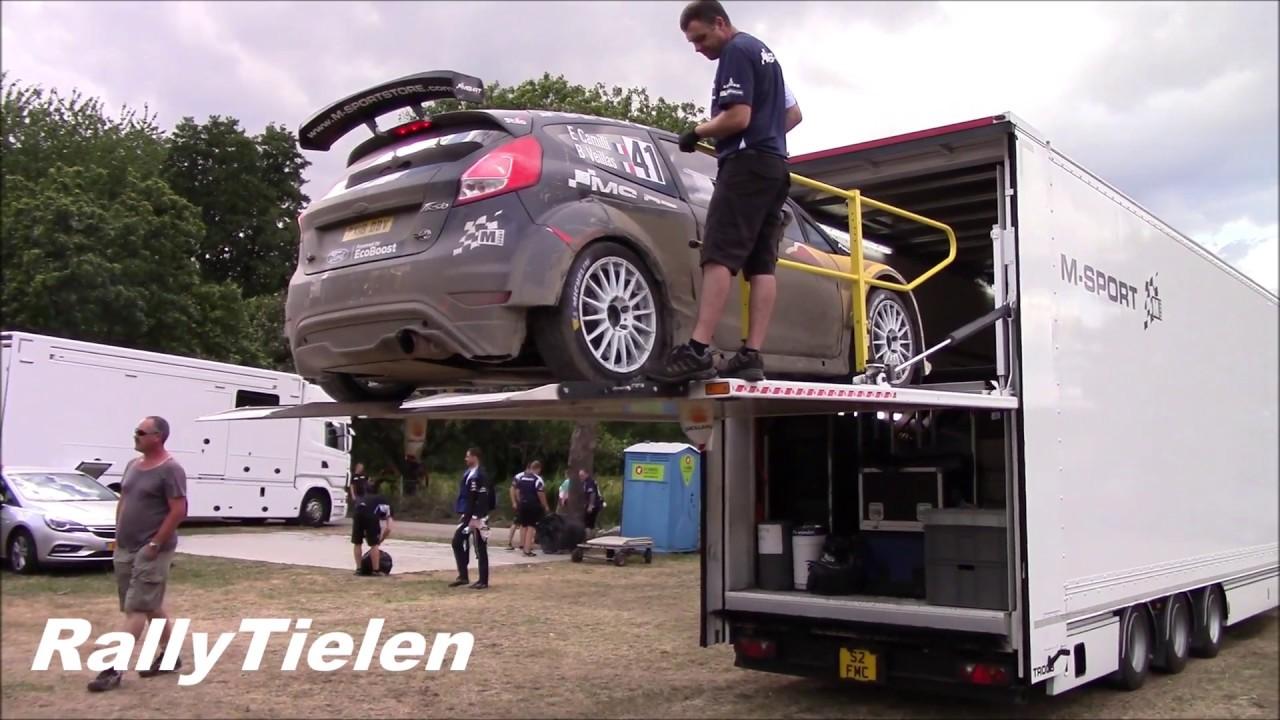 Saksamaa ralli 2018 - auto laadimine treilerisse, M-Sport