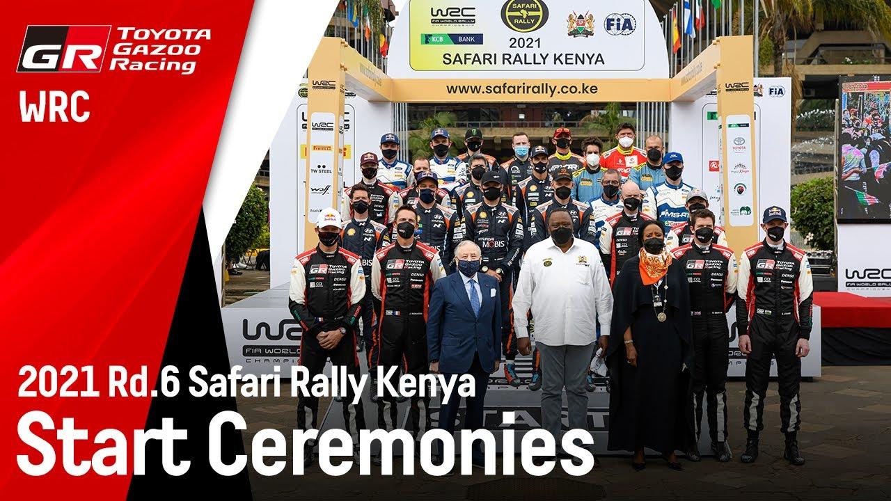 Keenia ralli 2021 stardipoodium, Toyota