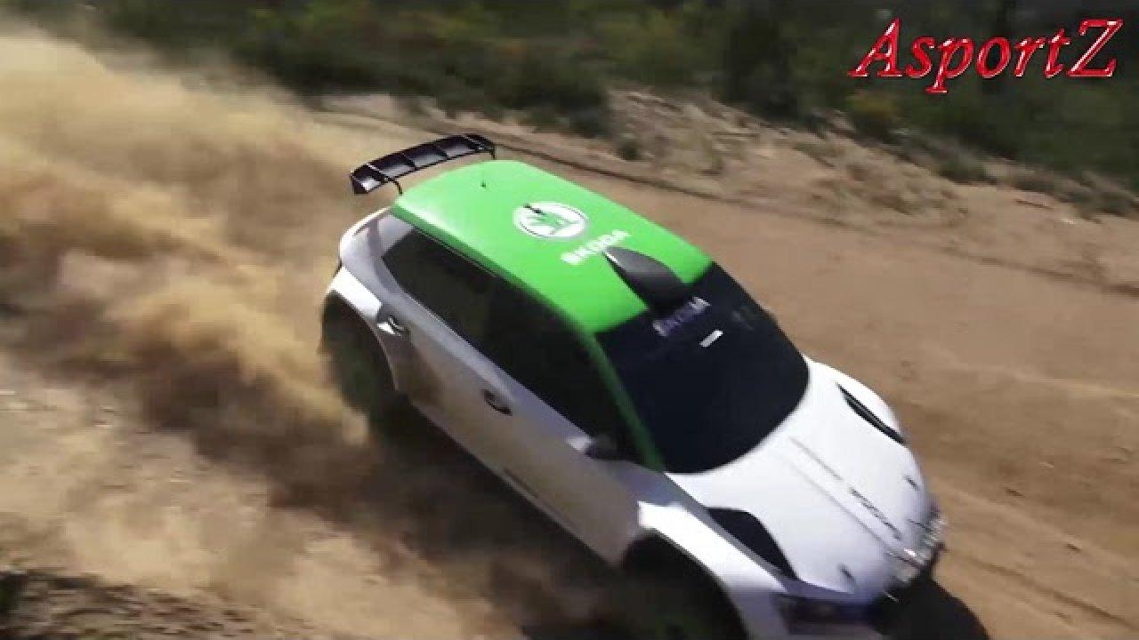 Škoda Fabia R5 Kopecky test ja üle katuse käimine