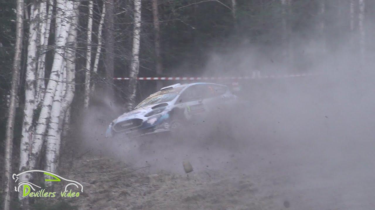 Sunineni apsakas Rootsi ralli Shakedown testikatsel, Devillersvideo