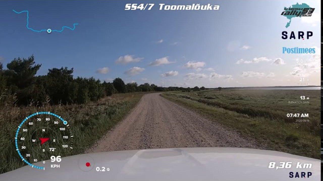 Saaremaa Rally 2020 SS4/SS7 kiiruskatse