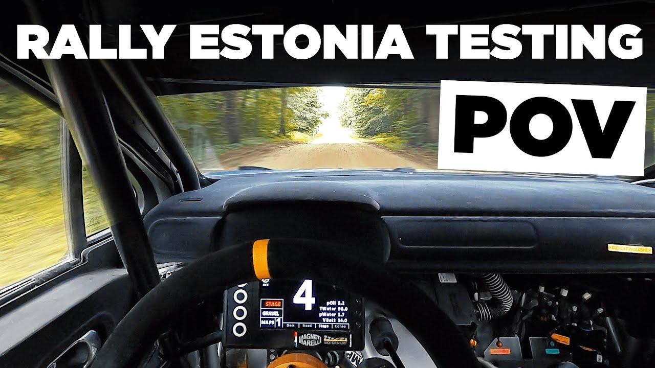 Johnstoni Rally Estonia eelne test Citroën C3 R5