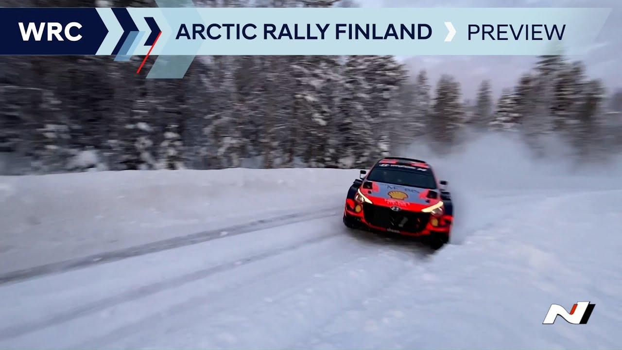 Hyundai eelvaade Artic Rally Finlandile