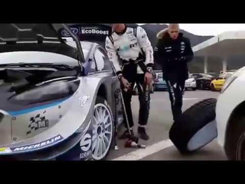 Monte Carlo ralli 2017 - 5. päev, Tänak autot parandamas