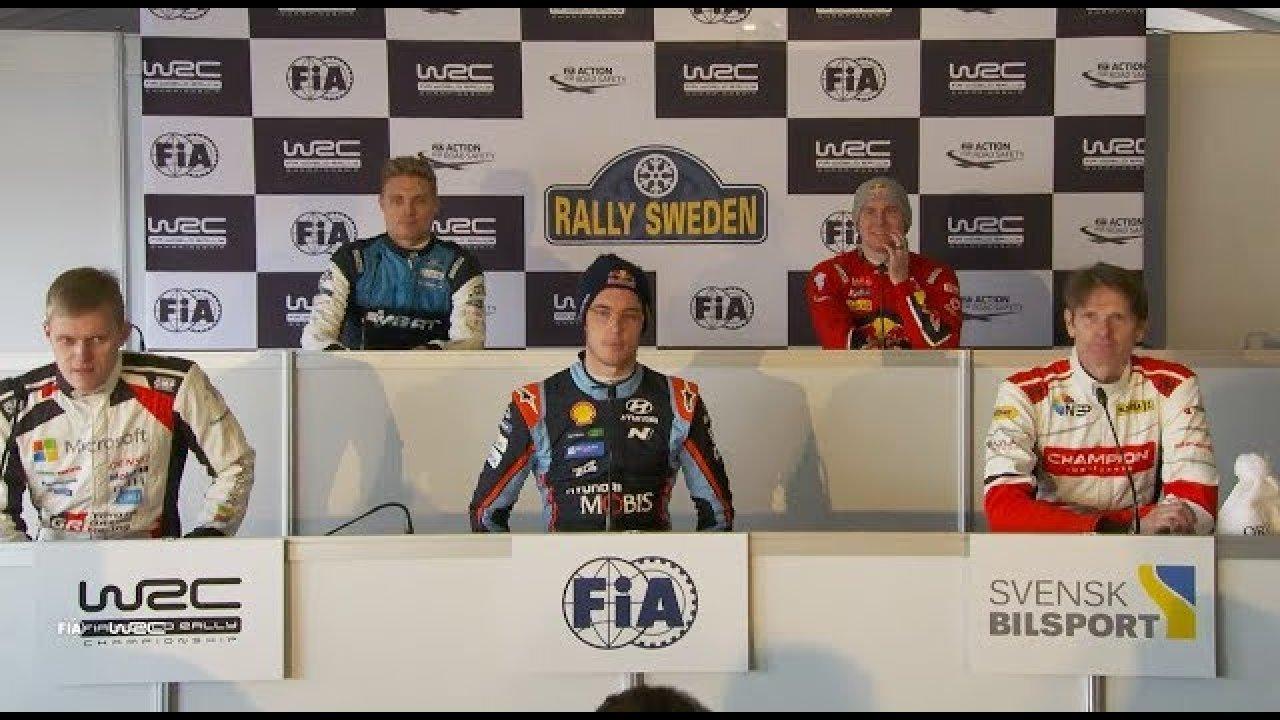 Rootsi ralli 2019 - rallieelne sõitjate pressikonverents, WRC