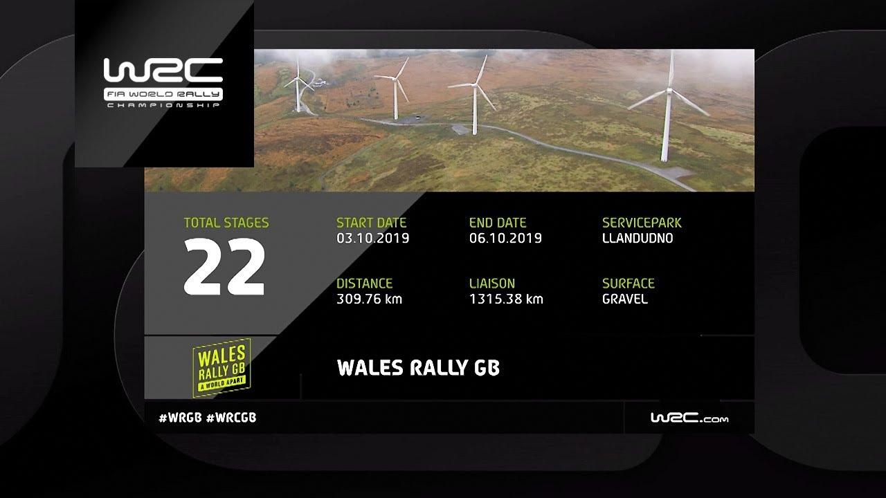 Walesi ralli 2019 - eelvaade, 22 kiiruskatset, WRC