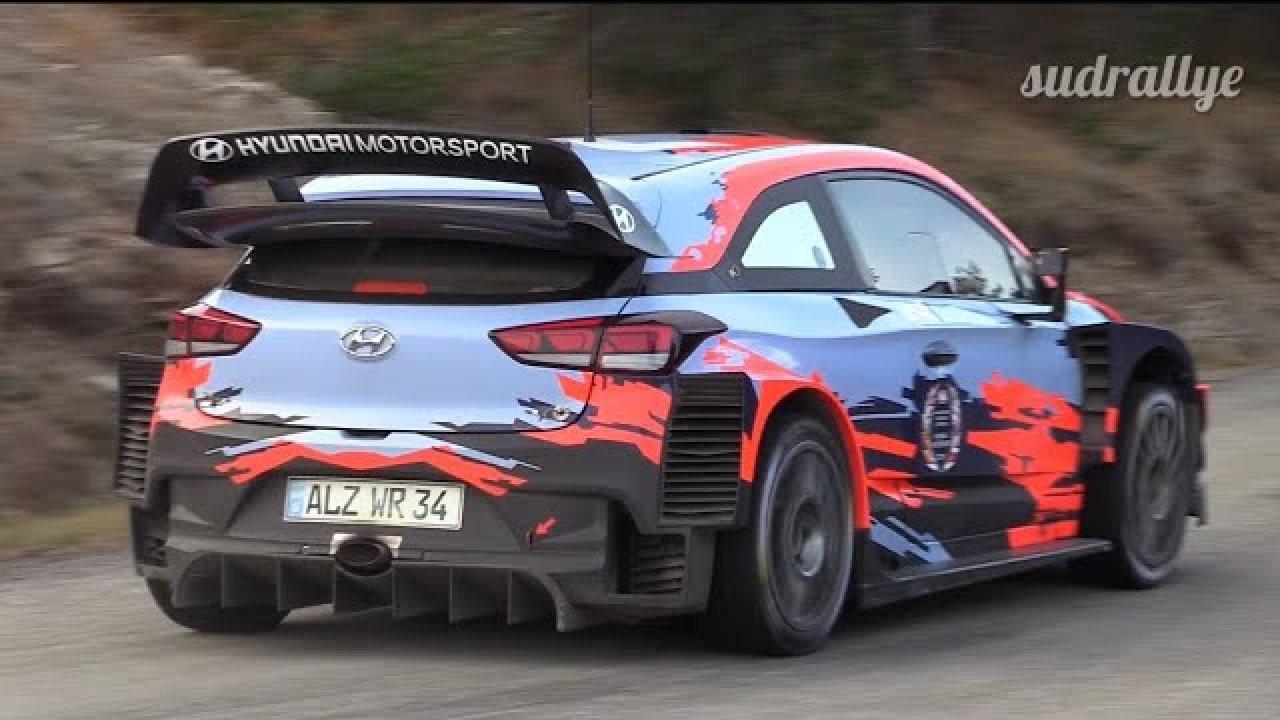 Monte Carlo ralli 2020 - rallieelne test, Tänak ja Hyundai - sudrallye
