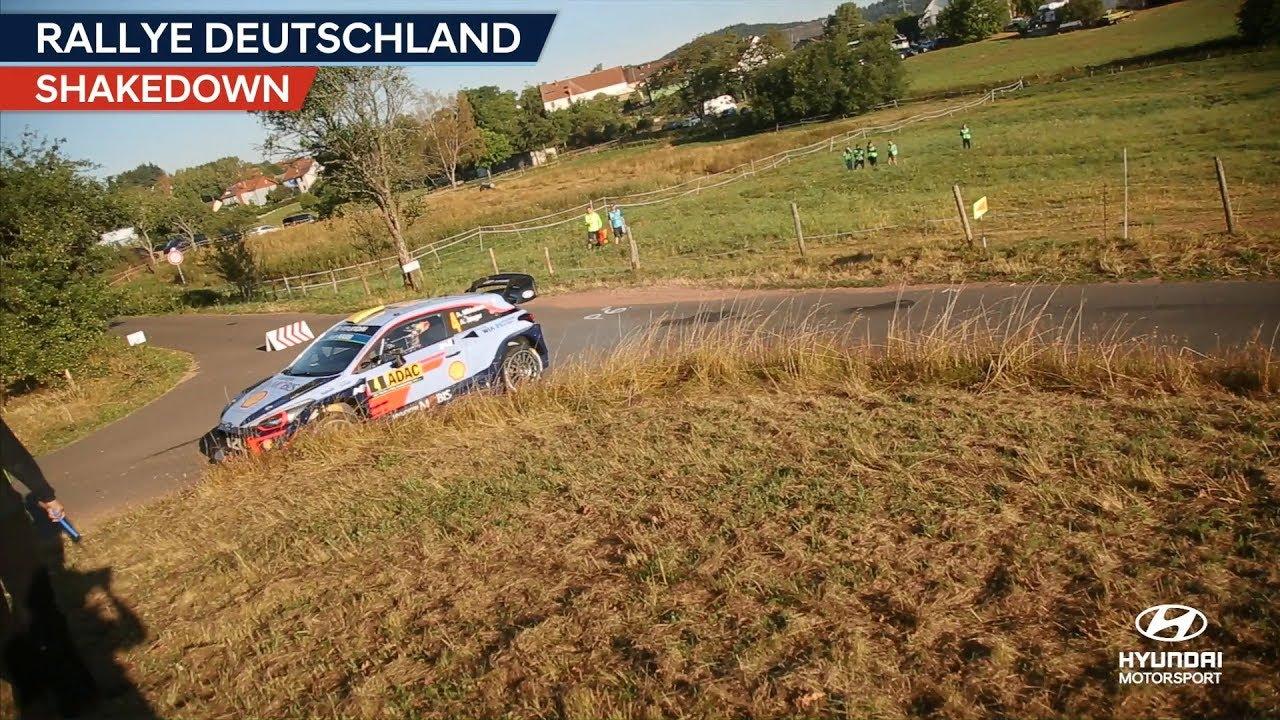 Saksamaa ralli 2018 - testikatse, Hyundai Motorsport