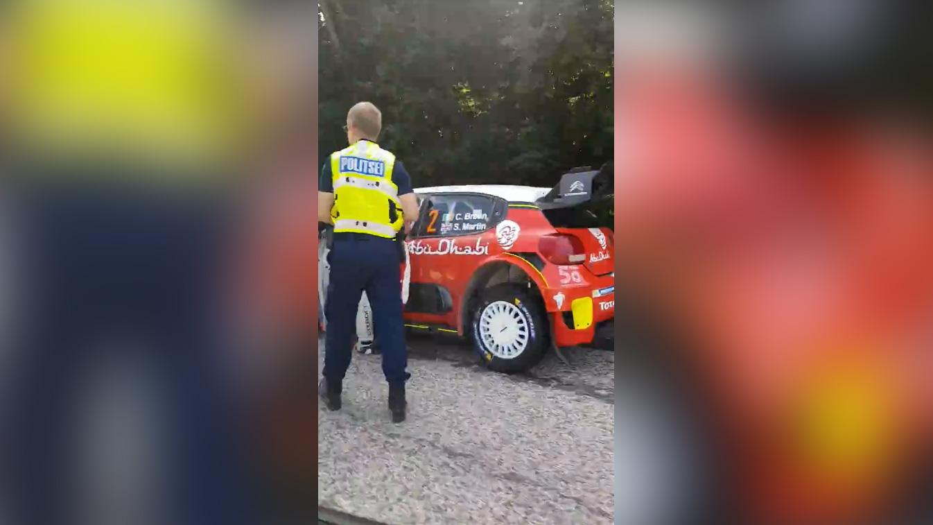 Rally Estonia 2018 - 1. päev, Breen vs politsei