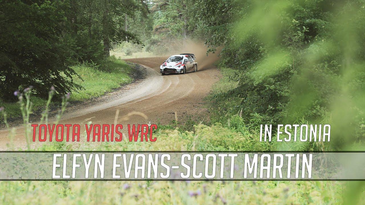 Elfyn Evansi Rally Estonia test Eestis