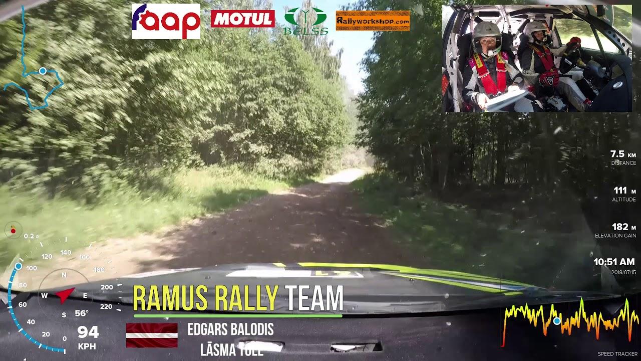 Rally Estonia 2018 - 2. päev, SS15, pardakaamera