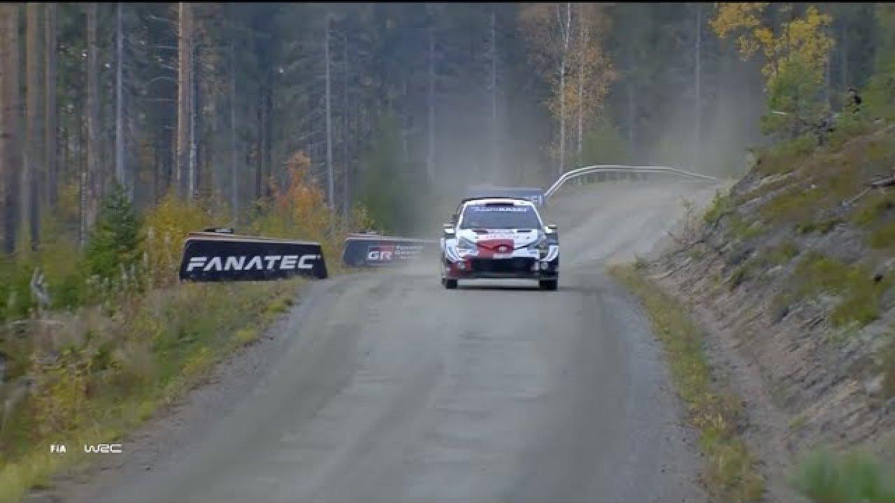Toyota Gazoo Racing esimene päeva Soome rallil