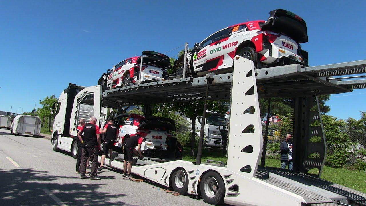 Portugali rallil masinate transport ühest võistluspaigast teise