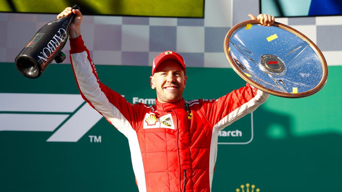 Austraalias võitis õnnega pooleks Vettel