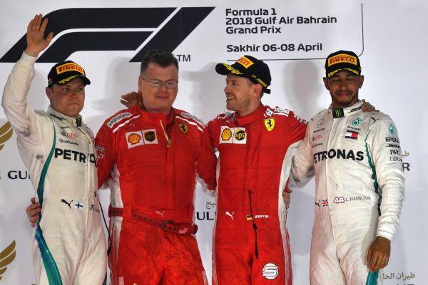 Vettelile napp võit ka Bahreinist