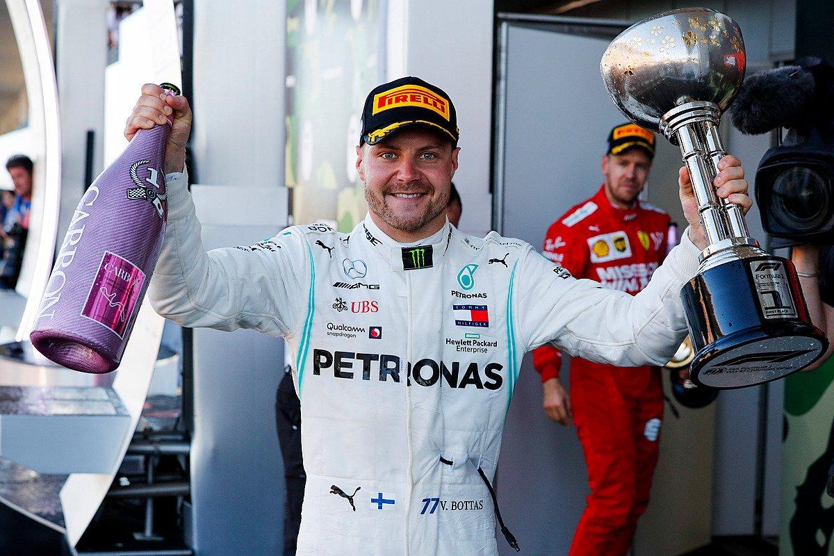 Mercedes kindlustas Jaapanis maailmameistritiitli, Bottas võitis võistluse